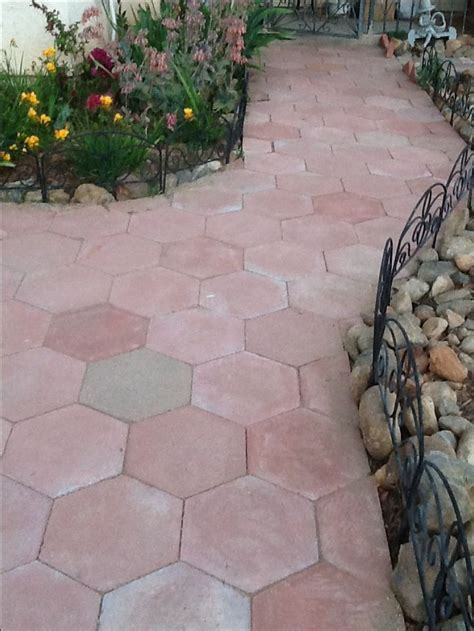 hexagon paver walkway front walkways garden pavers
