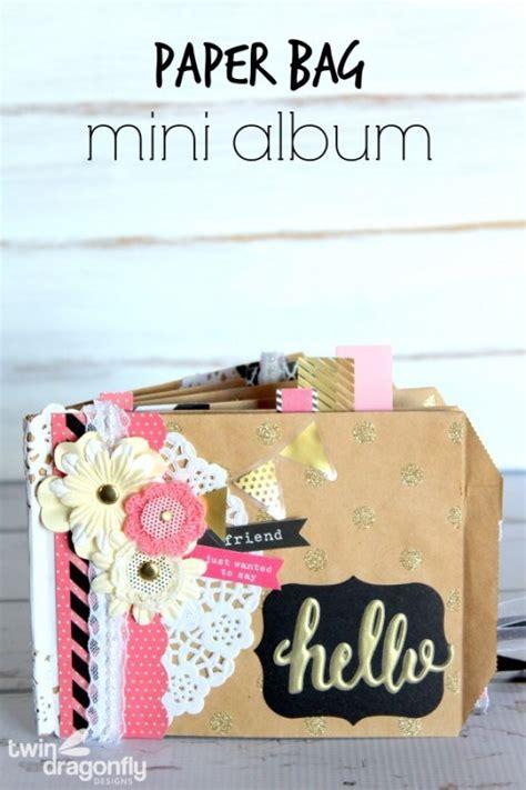 paper bag mini album tatertots  jello