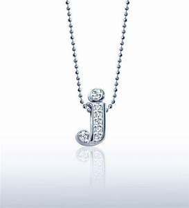 alex woo jewelry little letter j in 14kt white gold with With alex woo little letters necklace