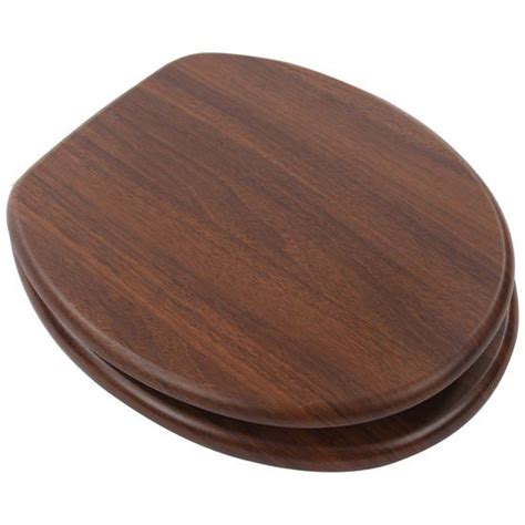 walnut dark wood effect toilet seat  plumbers