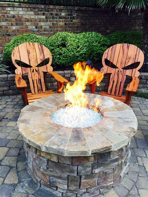 buy  hand crafted punisher skull adirondack chair