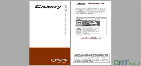 toyota camry  owners manual   toyota