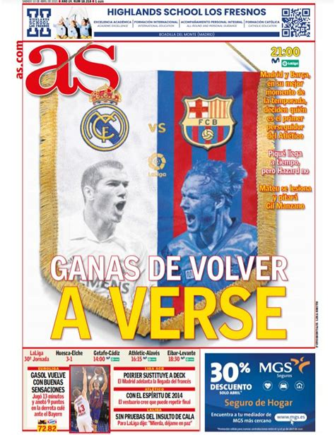Today's Spanish Papers: El Clasico Preview as Barcelona ...