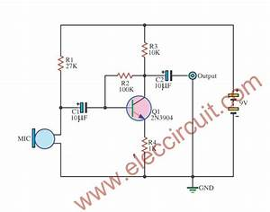 Simple Condenser Mic Preamp Circuit