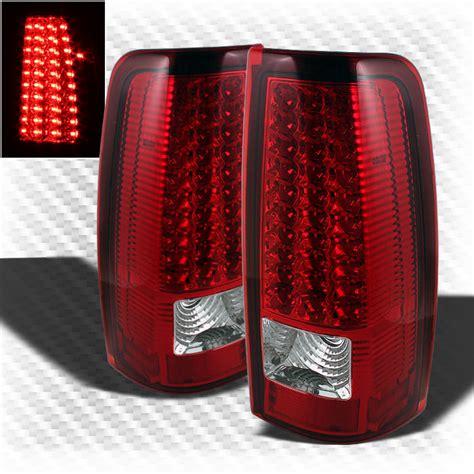 02 silverado tail lights for 99 02 chevy silverado 99 03 gmc sierra led red clear
