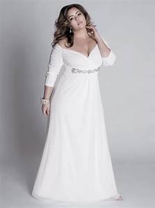 Elegant fall plus size wedding dresses with sleeves for for Plus sized wedding dresses
