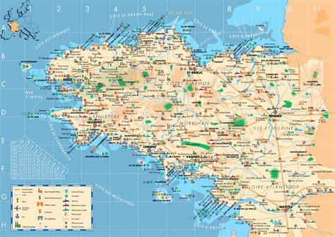 stadtplan von bretagne detaillierte gedruckte karten von