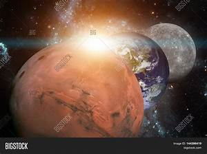Solar System - Mars. It Is The Fourth Planet From The Sun ...