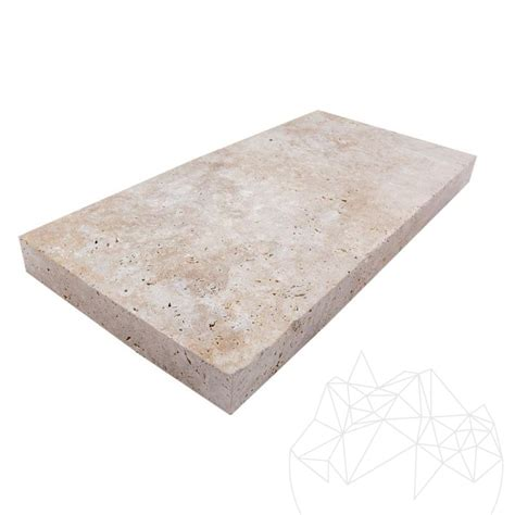 travertine tile kitchen classic cross cut brushed travertine 60 x 30 x 5 cm sp 2925