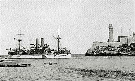 us battleship uss maine entering havana harbor