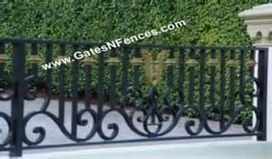 metal fence railings fences