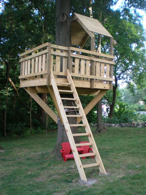 tree fort ladder gate roof finale   home