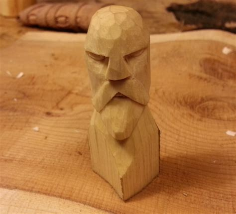 carved viking chess piece  steps  pictures