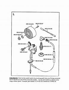 Ignition System Diagram  U0026 Parts List For Model 155bt Husqvarna