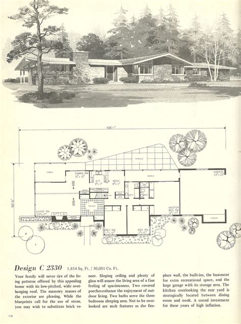 vintage house plans  houses mid century homes mid