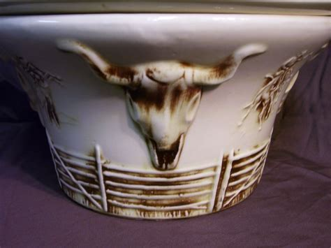 McCoy El Rancho Western Bowl and Cowboy Hat Lid, from