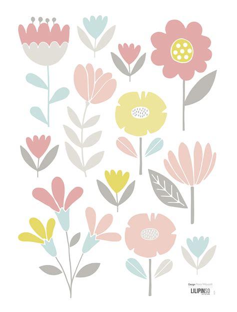 Wandtattoo Kinderzimmer Gelb by Lilipinso Wandtattoo Vintage Blumen Rosa Pastellblau
