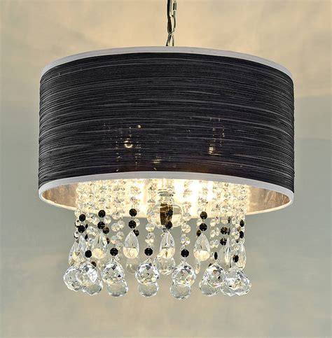 pendant chandelier with fabric shade by made with