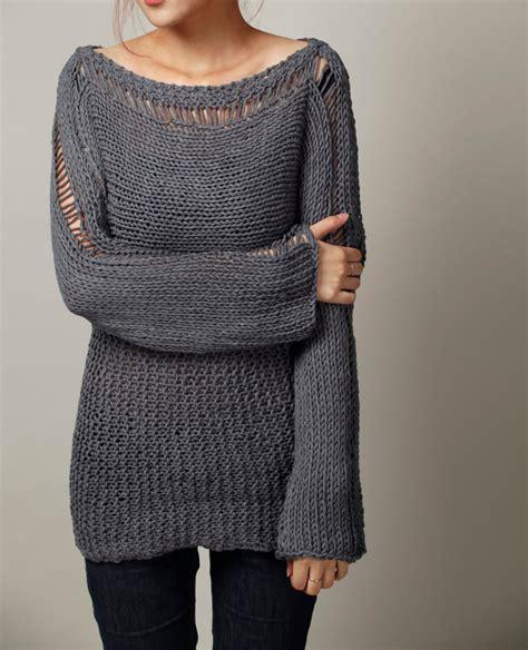 oversized sweater knit sweater eco cotton oversized sweater in