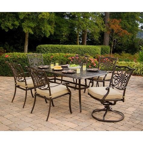 Metal Patio Furniture Sets by Traditions 7 Metal Patio Dining Furniture Set Target