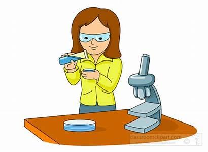 Experiment Microscope Doing Petri Clipart Science Dish