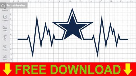 dallas cowboys heartbeat svg  cutting files  cricut