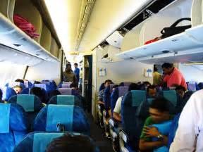 Airplane Passengers Inside a Plane
