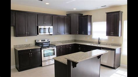 white and espresso kitchen cabinets espresso cabinets with what color granite 1735