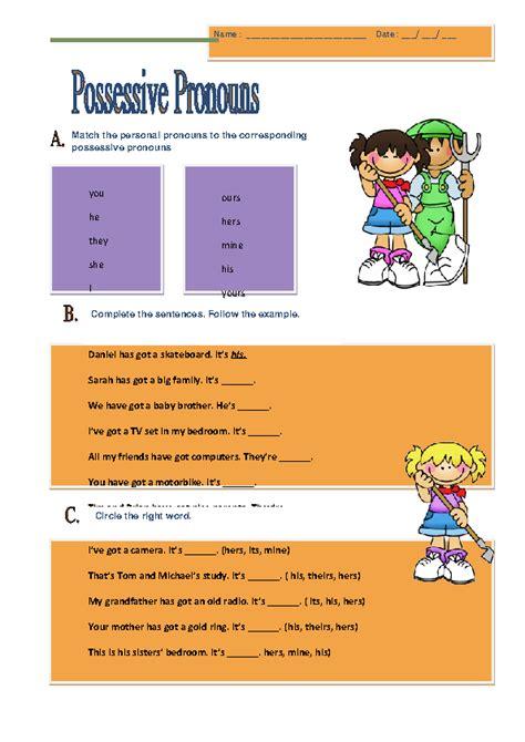 pronoun homework