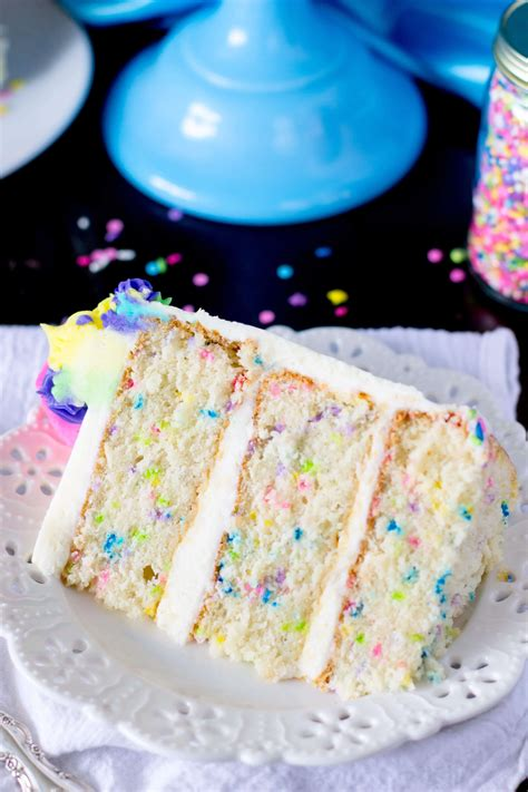funfetti cake  scratch   merry unbirthday