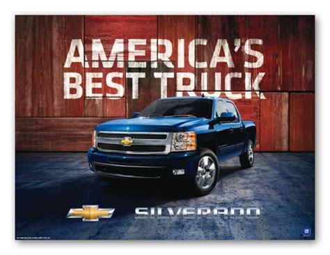 silverado americas  truck art poster chevymall