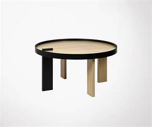 Table Ronde Aluminium : table basse ronde ch ne naturel et m tal noir temahome ~ Teatrodelosmanantiales.com Idées de Décoration