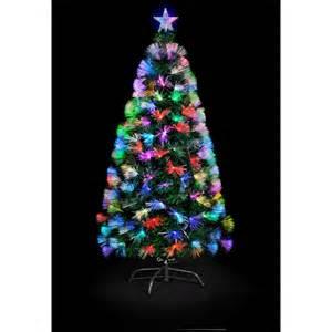 snowtime snowtime 1 8m colour burst christmas tree multi colour change leds fibre optic