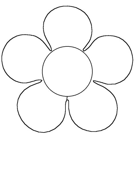 flower simple shapes coloring pages coloring book