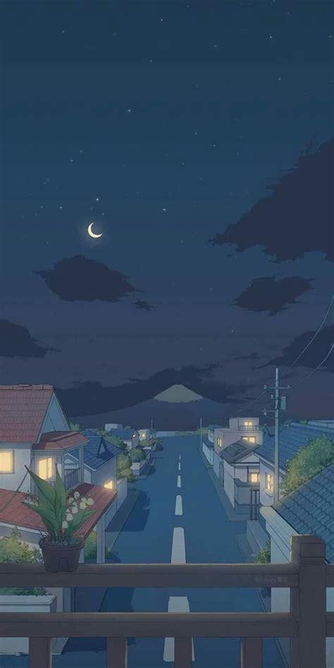 aesthetic wallpaper anime warna ungu