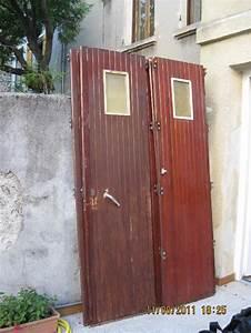 Porte De Garage Bois : photo porte de garage coulissante en bois 5 vantaux av ~ Melissatoandfro.com Idées de Décoration