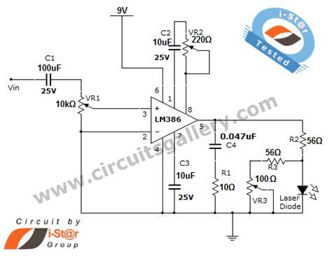 laser communication project circuit schematic  laser