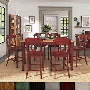 amazon, com, -, inspire, q, elena, berry, red, extendable, counter, ight, dining, set