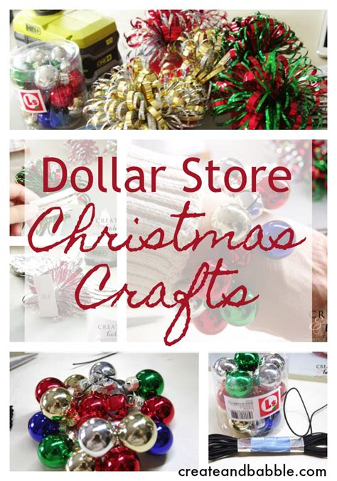 dollar store christmas crafts create  babble