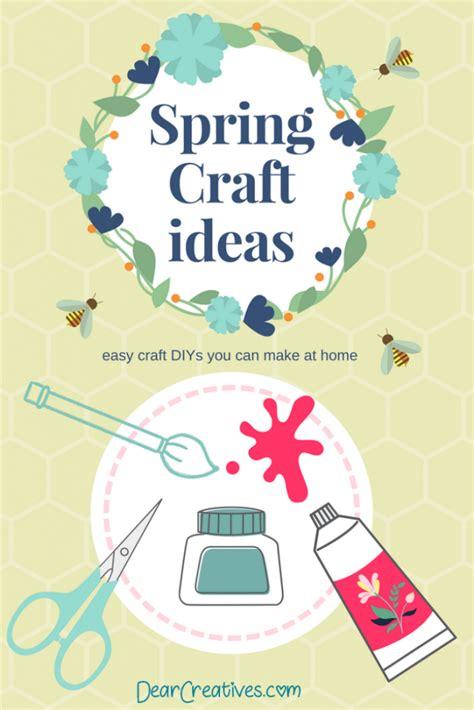 spring craft ideas crafts  diys  spring