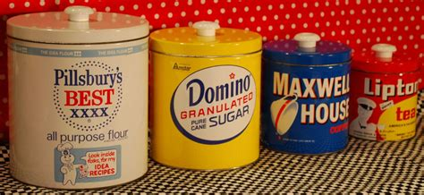 Retro Kitchen Canisters Set by Decorative Kitchen Canisters Colorful Canisters