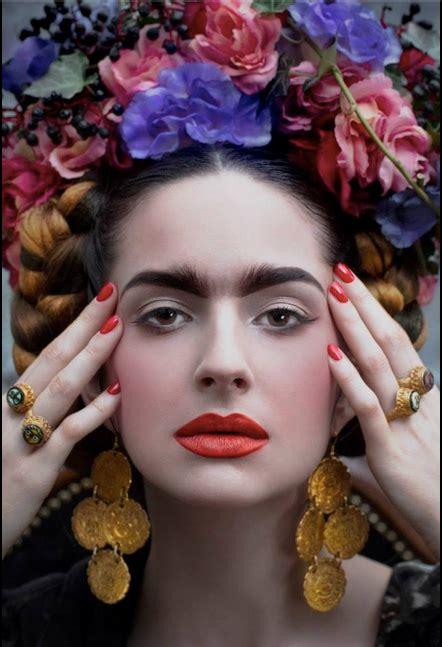 Die Besten 25+ Frida Kahlo Makeup Ideen Auf Pinterest