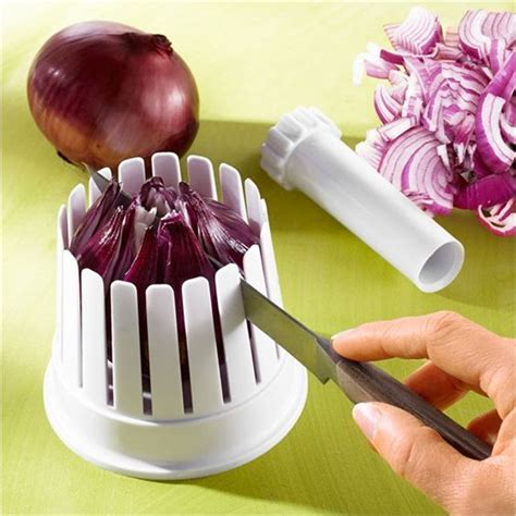 accessoire cuisine rigolo éminceur à oignons onions slicer coloured cooking
