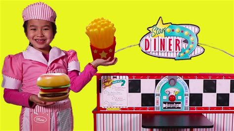 Jannie Pretend Play With Diner Toy Set  Youtube