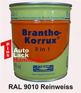 Ral 9010 Reinweiß : 1plus autolack hannover brantho korrux 3 in 1 0 75 l ral 9010 reinweiss ~ Orissabook.com Haus und Dekorationen