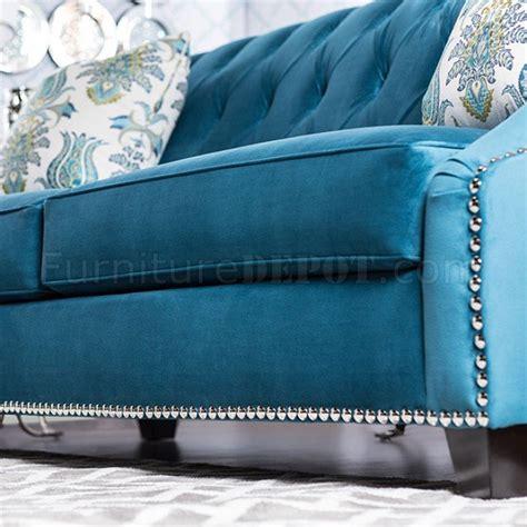 celeste sm sofa  azure blue fabric woptions
