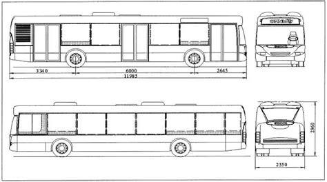School Bu Dimension Diagram by Dimensions Mm Of The Scania Omnicity