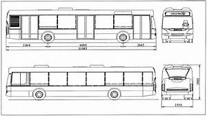 Main Dimensions  Mm  Of The Scania Omnicity Bus