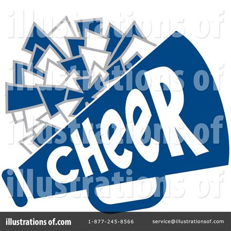 Blue Cheer Megaphone Clipart Royalty Free Rf Illustration Cheerleading Clipart 1115555 Illustration By Johnny Sajem