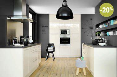 cuisine taupe et noir cuisine fly blanche en promo modele spacio plus